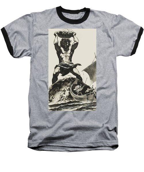 Cyclops Baseball T-Shirt by Angus McBride