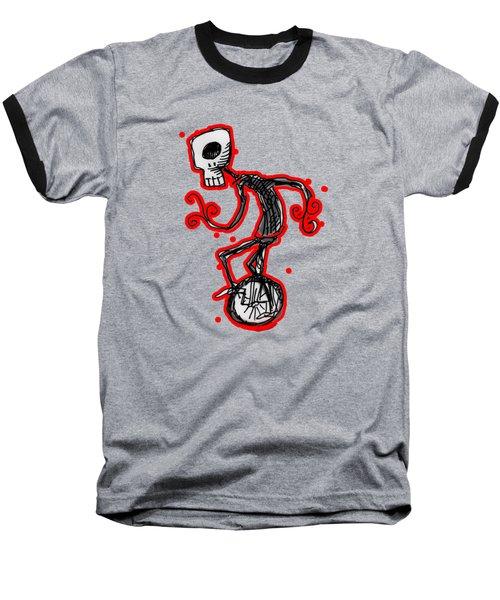 Cyclops On A Unicycle Baseball T-Shirt by Matt Mawson