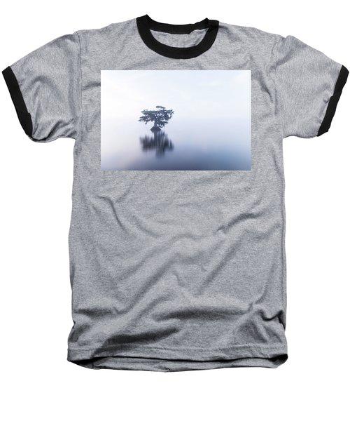 Cypress In Heavy Fog Baseball T-Shirt