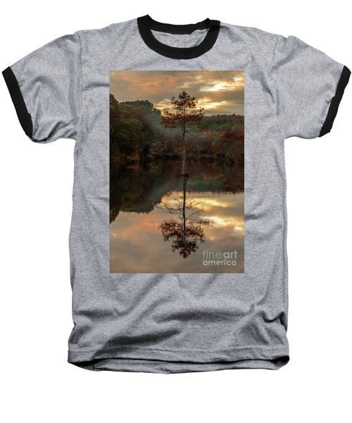 Cypress At Sunset Baseball T-Shirt by Iris Greenwell