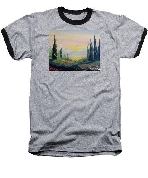 Cypress Dawn Landscape Baseball T-Shirt