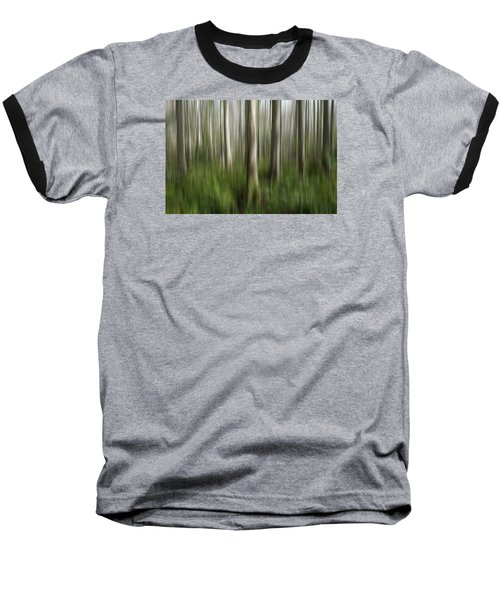 Cypress Tress Digital Abstracts Motion Blur Baseball T-Shirt by Rich Franco