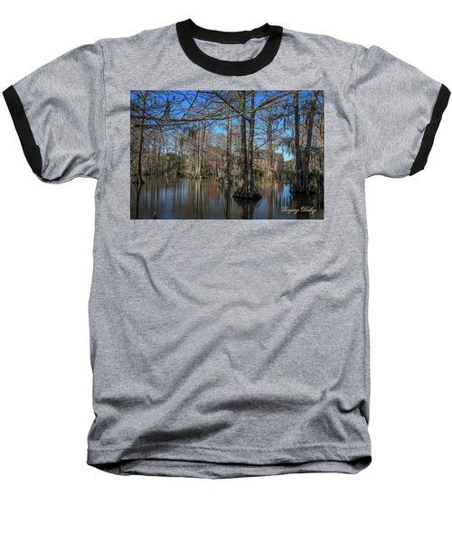 Baseball T-Shirt featuring the photograph Cyprus Lake 2 by Gregory Daley  PPSA