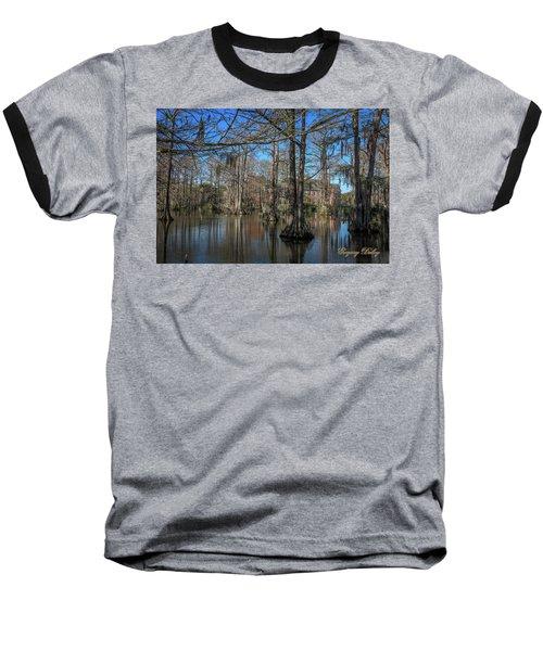 Cyprus Lake 2 Baseball T-Shirt by Gregory Daley  PPSA