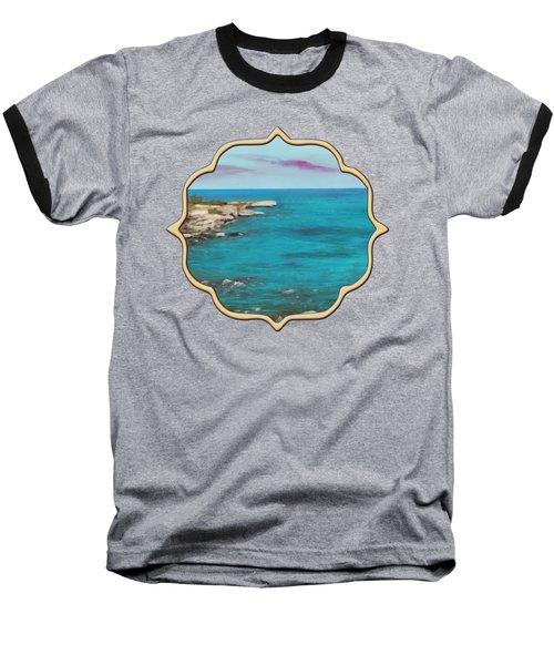 Baseball T-Shirt featuring the painting Cyprus - Protaras by Anastasiya Malakhova