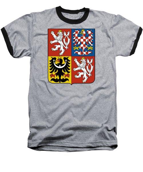 Czech Republic Coat Of Arms Baseball T-Shirt