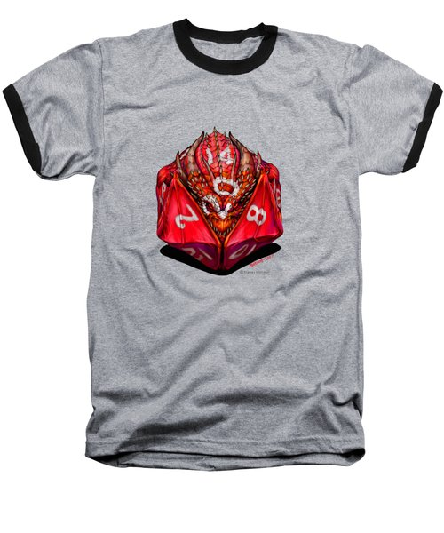 D20 Dragon T Shirt Baseball T-Shirt