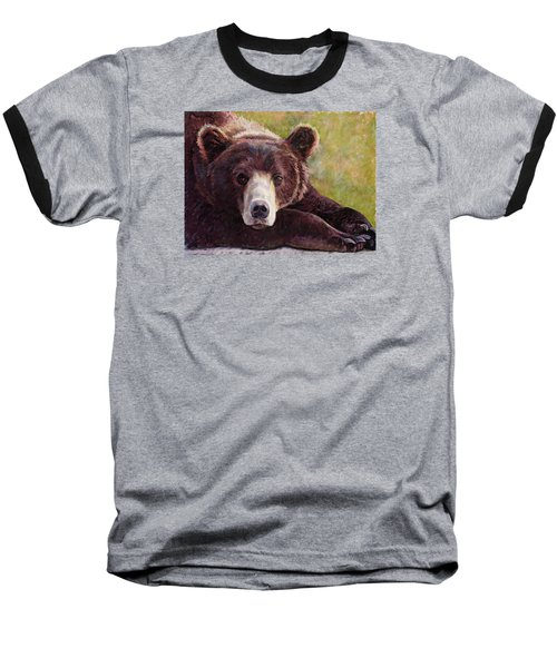 Da Bear Baseball T-Shirt by Billie Colson