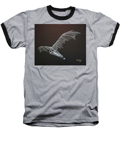 Da Vinci Flying Machine Baseball T-Shirt