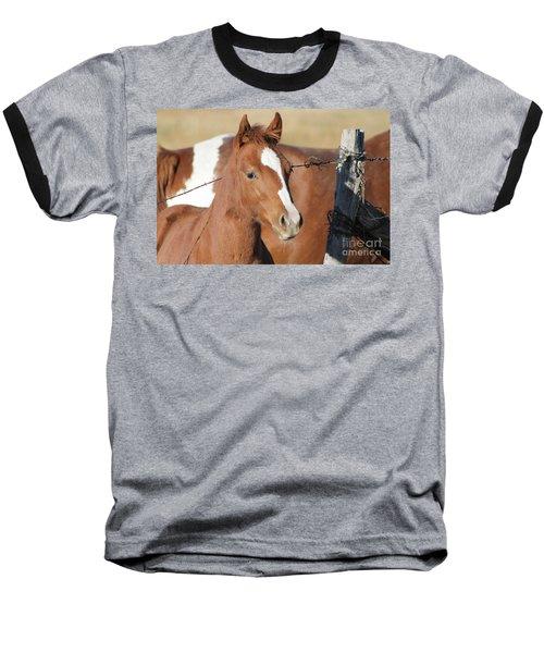 Daddys Home Baseball T-Shirt by Pamela Walrath