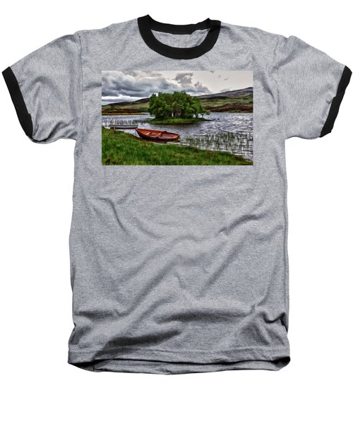 Baseball T-Shirt featuring the painting Dads Fishing Spot P D P by David Dehner