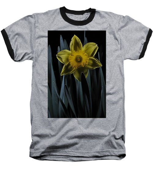 Daffodil By Moonlight Baseball T-Shirt