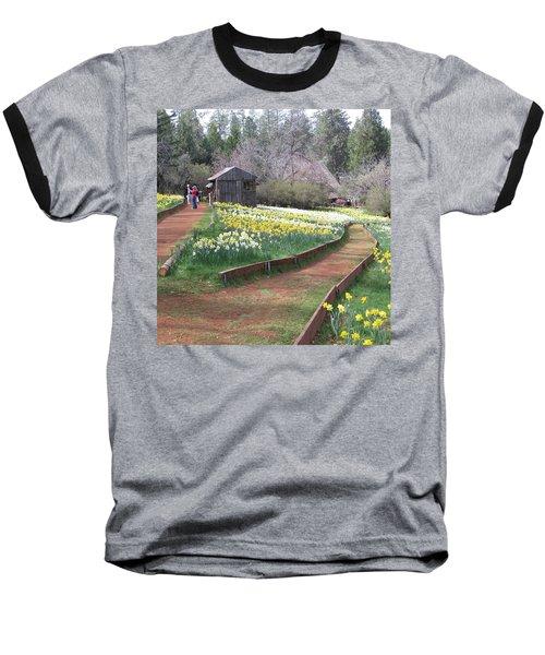 Daffodil Hill Pathway Baseball T-Shirt