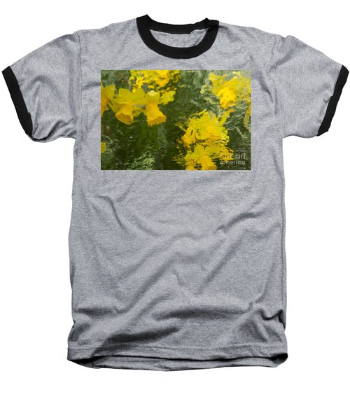 Daffodil Impressions Baseball T-Shirt by Jeanette French