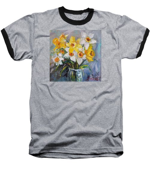 Daffodil In Spring  Baseball T-Shirt by Jennifer Beaudet