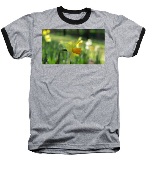 Daffodil Side Profile Baseball T-Shirt