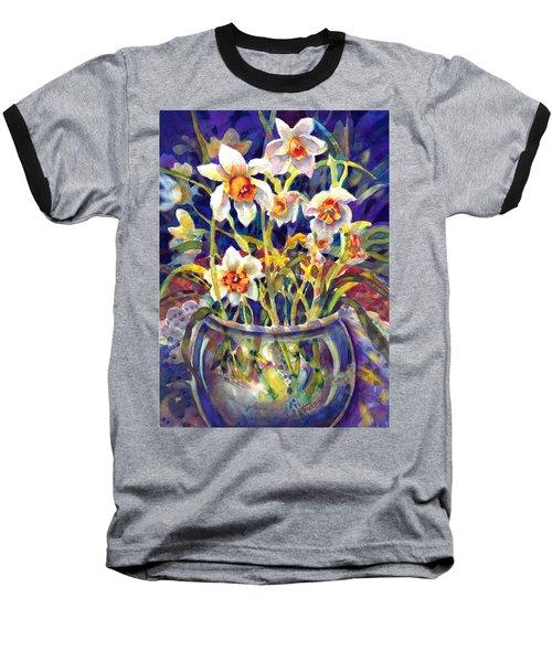 Daffodils And Lace Baseball T-Shirt
