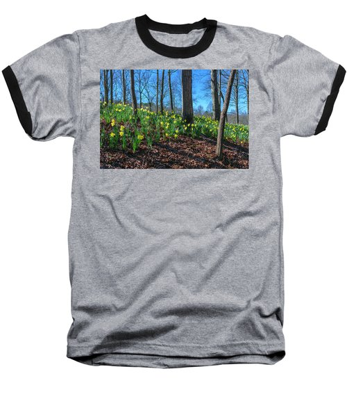 Daffodils On Hillside Baseball T-Shirt