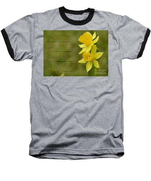 Daffodils Poem By William Wordsworth Baseball T-Shirt