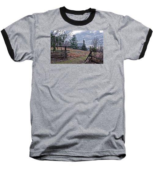 Dahlgren Chapel Winter Scene Baseball T-Shirt