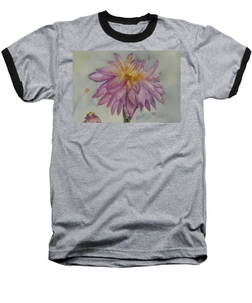 Baseball T-Shirt featuring the painting Dahlia At Eastport Me by Donna Walsh