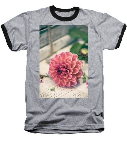 Dahlia Bloom Baseball T-Shirt