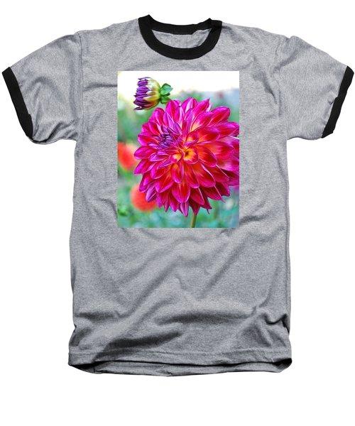 Dahlia Fuchsia Surprise  Baseball T-Shirt