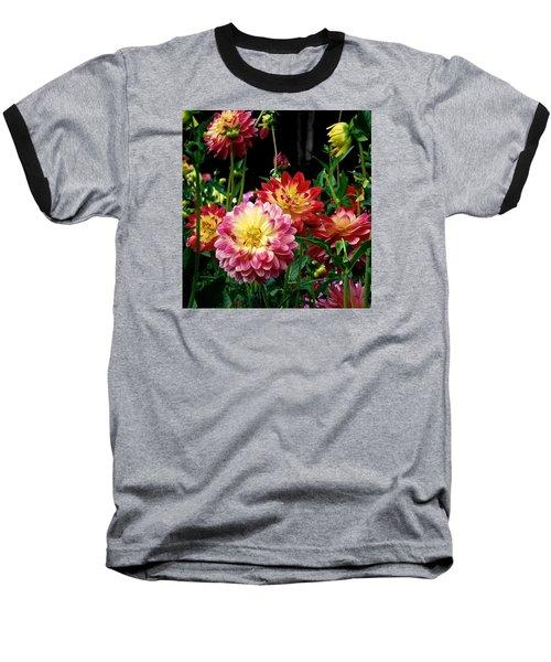 Dahlia Garden Time  Baseball T-Shirt