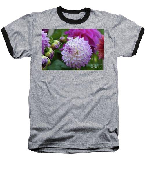 Dahlia Baseball T-Shirt by Glenn Franco Simmons