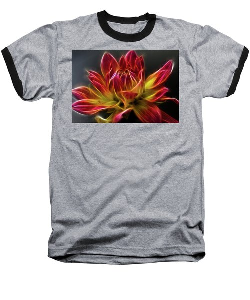 Dahlia Baseball T-Shirt by Joann Copeland-Paul