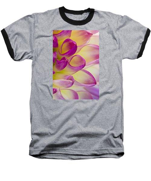 Dahlia Petals 4 Baseball T-Shirt