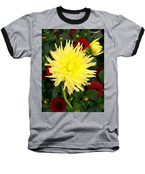 Baseball T-Shirt featuring the photograph Dahlia's by Sharon Duguay
