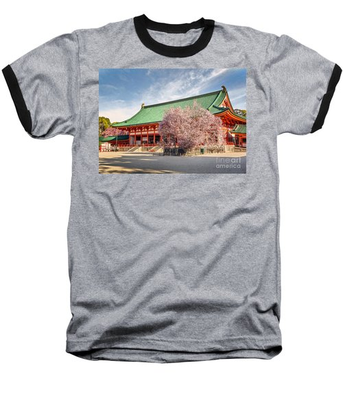 Daigukuden Main Hall Of Heian Jingu Shrine Baseball T-Shirt