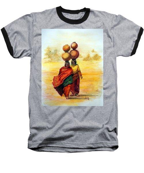 Daily Desert Dance Baseball T-Shirt by Alika Kumar