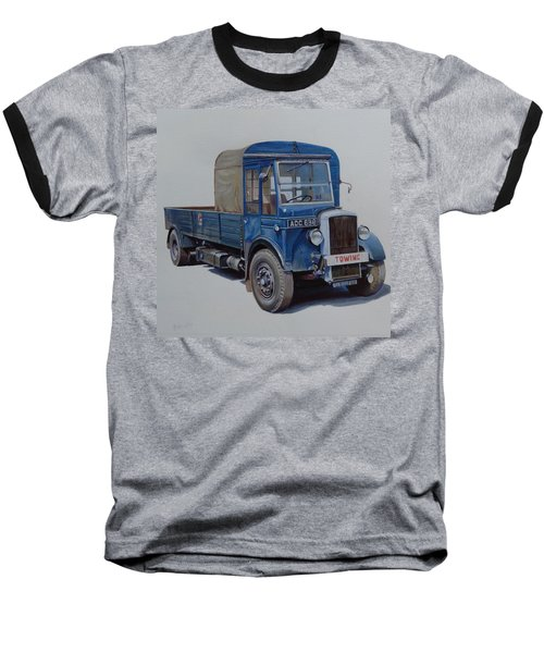 Baseball T-Shirt featuring the painting Daimler Wrecker Btc by Mike Jeffries