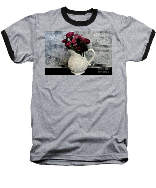 Dainty Flowers Baseball T-Shirt by Marsha Heiken