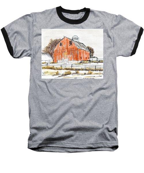 Dairy Barn Baseball T-Shirt by R Kyllo