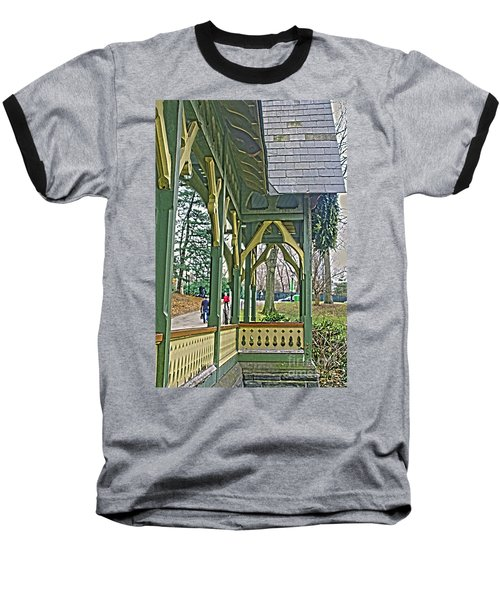 Dairy Cottage Porch Baseball T-Shirt by Sandy Moulder