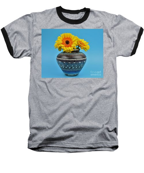 Daisies Displayed In Navajo Native American Vase Baseball T-Shirt