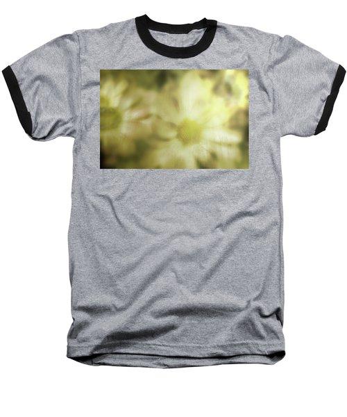 Daisies Baseball T-Shirt by Gray  Artus