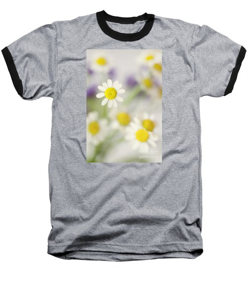 Daisies In Morning Mist Baseball T-Shirt