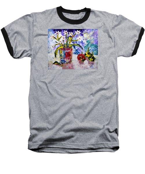 Daisies Baseball T-Shirt by Lynda Cookson
