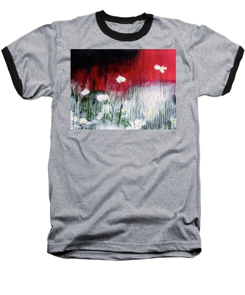 Daisies Baseball T-Shirt by Mary Ellen Frazee