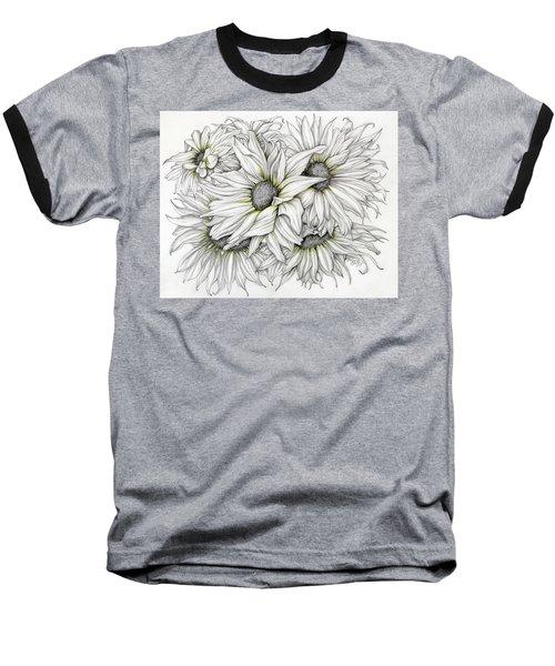 Sunflowers Pencil Baseball T-Shirt