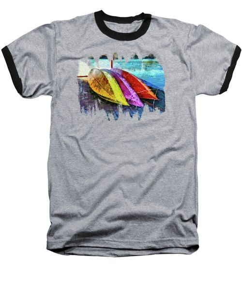 Baseball T-Shirt featuring the photograph Daisy And The Rowboats by Thom Zehrfeld