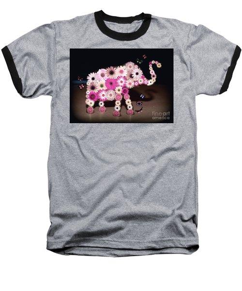 Daisy Elephant Baseball T-Shirt
