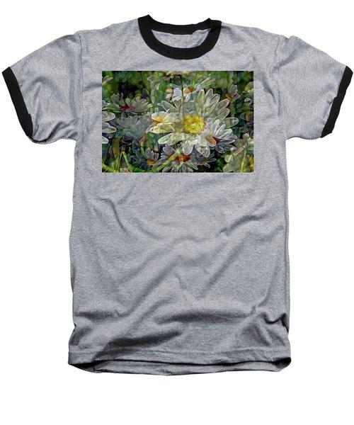 Daisy Mystique 8 Baseball T-Shirt by Lynda Lehmann