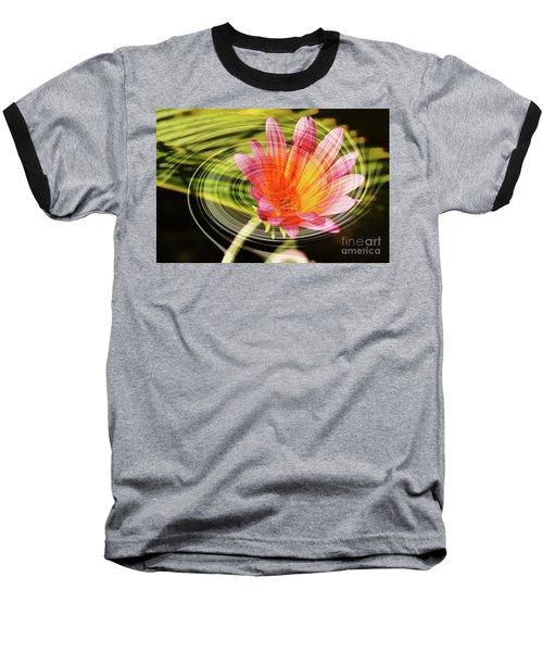 Daisy Swirl Baseball T-Shirt by Debby Pueschel
