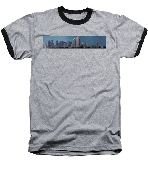 Baseball T-Shirt featuring the photograph Dallas At Night by Jonathan Davison