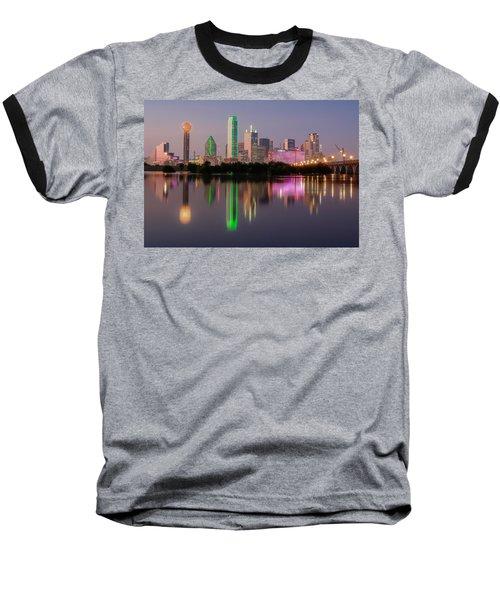 Dallas City Reflection Baseball T-Shirt